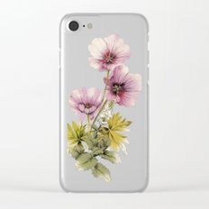Geranium & Gardenmint Clear iPhone Case