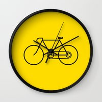 bicycle Wall Clocks featuring Bicycle by Luke Turner