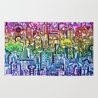 hong kong Area & Throw Rugs featuring Hong kong by 2tehmax
