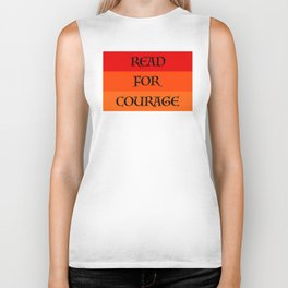 READ FOR COURAGE Biker Tank