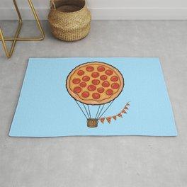 Pizza Hot Air Balloon Rug