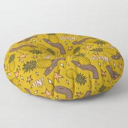 Gemini Pineapple Print Floor Pillow