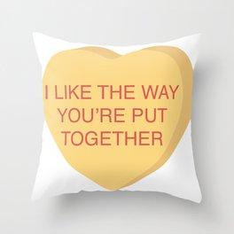 Champ Kind Conversation Heart Throw Pillow