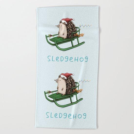 Sledgehog Beach Towel