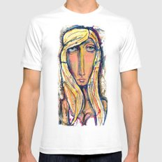 Why the long face?  MEDIUM White Mens Fitted Tee