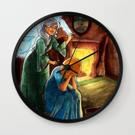Cinderella and the Fairy Godmother Wall Clock