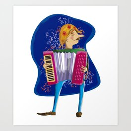 Junina's Party Festival with with accordion music Art Print