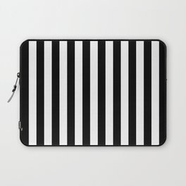Black and White Even Small Stripes Laptop Sleeve
