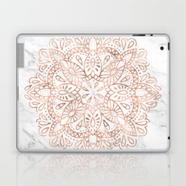 Rose Gold Mandala on Marble Laptop & iPad Skin