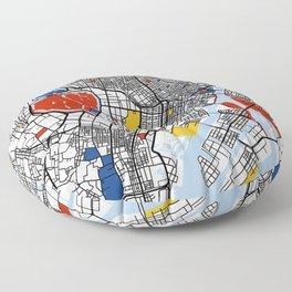 Tokyo Mondrian Floor Pillow