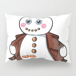 flashing snowman Flasher Present Winter Christmas Pillow Sham