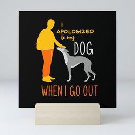 Greyhound, Greyhound whippet, Greyhound afghan Mini Art Print