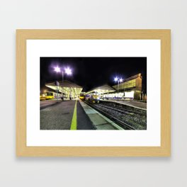 Exeter St Davids by Night  Framed Art Print