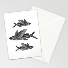 Flying Fish | Black and White Stationery Cards