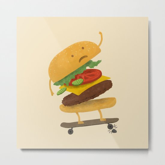 Burger Wipe-out  Metal Print