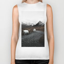 Sheep in the highlands #adventure Biker Tank