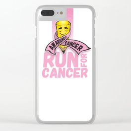 Run for Cancer, Cancer Awareness Clear iPhone Case
