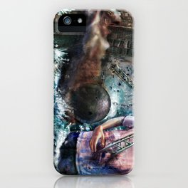 Wrecking Ball Listener Panorama iPhone Case