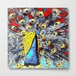 Color Kick - peacock Metal Print