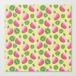 Watermelon Spritzer Pattern Canvas Print
