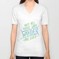 wander V-neck T-shirts featuring Wander by IndigoEleven