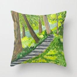 Down the Garden Path Throw Pillow