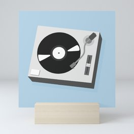 Turntable Illustration Mini Art Print