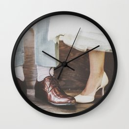Vintage Swing Couple Shoes Wall Clock