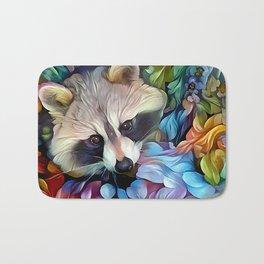 Peekaboo Raccoon Bath Mat