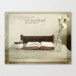 Study His Word Canvas Print