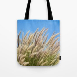 Foxtails on a Hill Tote Bag