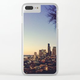 Seattle: City Lights Clear iPhone Case