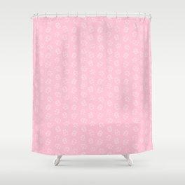 Pangnupark Hippo Bear Pink Shower Curtain