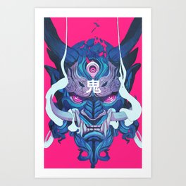 Oni Mask 01 Art Print