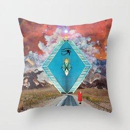 Bizarre Encounter Throw Pillow