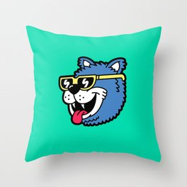 Cool Bear (portrait) Throw Pillow