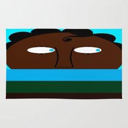bbnyc's little blue eyed boy in hiding Rug