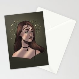 Dried flower crown Stationery Cards