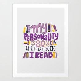 Book Nerd Personality Art Print