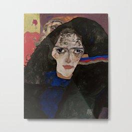 Egon Schiele - Mourning Woman Metal Print
