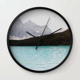 Faded Mountains Wall Clock