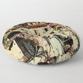 Vintage Tessin Schweiz - Ticino Switzerland Travel Floor Pillow