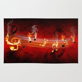 Hot Music Notes Rug
