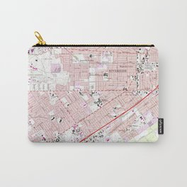Vintage Map of Riverside California (1967) 2 Carry-All Pouch