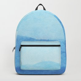 Ombre Waves in Blue Backpack