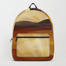 Desert in the Golden Sun Glow II Backpack