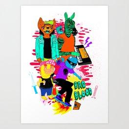Mean Streetz Art Print