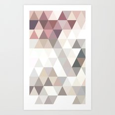 PINK AND GREY Art Print