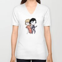 bill V-neck T-shirts featuring Bill & Frank by Ludwig Van Bacon