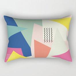 Shapes and Waves Rectangular Pillow